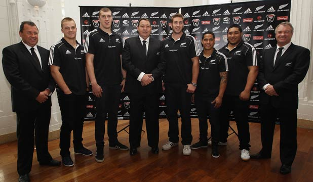All Blacks coaches and rookies