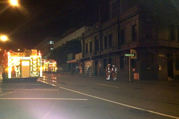 PUB FIRE: Firefighters were alerted to the fire at the iconic Backbencher Pub at 4.45am.