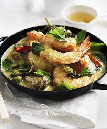 green curry with prawns