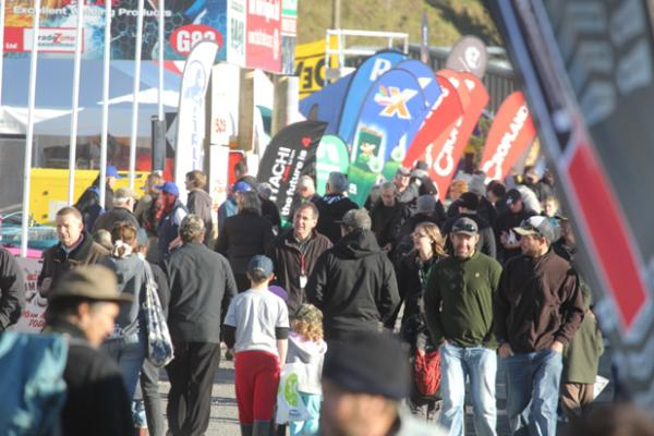 Crowds pouring in on the opening day of Fieldays.