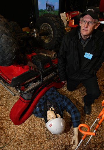 ROLLING IT IN: Vernon Suckling is $5000 richer after taking out the Fieldays Golden Standard award for innovation.