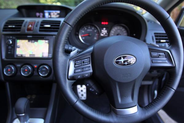 Inside the new Subaru Impreza 2.0I-SL.
