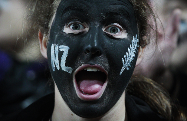 Fans at the Waikato Stadium during the third test between the All Blacks and Ireland.