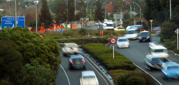 ROADBLOCK: Traffic sweeps around the River Rd-Wairere Dr roundabout, which   will soon undergo a major transformation.