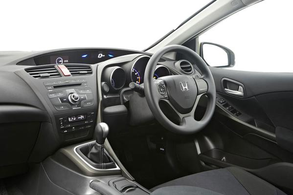 Interior: Double-level dash works well and quality of materials is good in the new Honda Civic hatch.