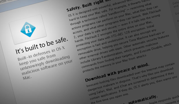 OSX website screenshot