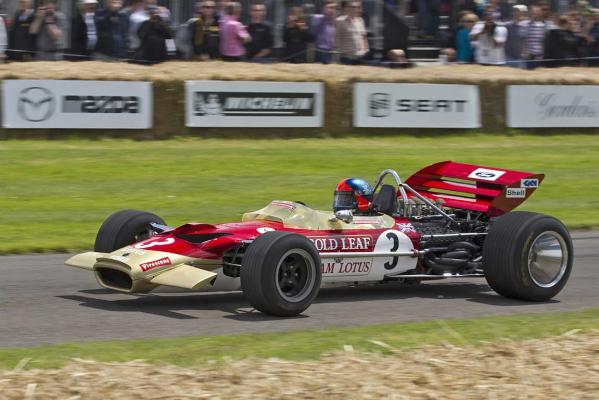 One of the vehicles on display at the Goodwood Festival of Speed.
