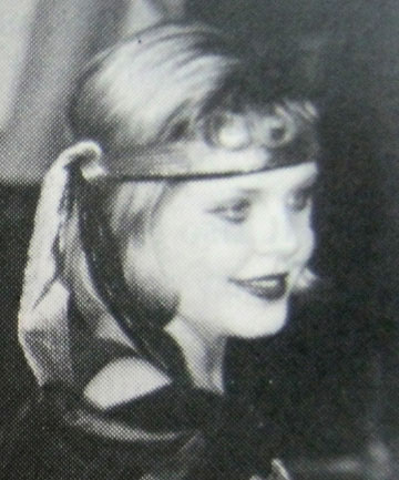 ON STAGE: Anna Macdonald, then Guy, plays Tallulah, one of the female leads in Feilding High School musical Bugsy Malone in 1996.