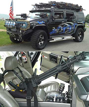 BLACK KNIGHT: This Hummer seems able to pack a punch.