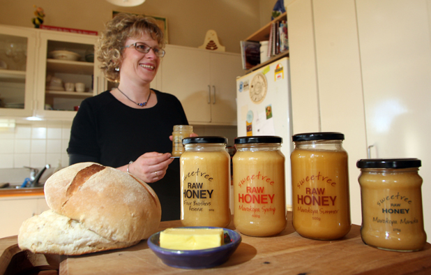 SPREADING FAME: Sweetree co-owner, Stephanie Lynch, talking sweet about her award winning honey.