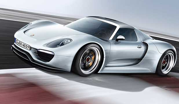 An artist's impression of the Porsche 960, which is e