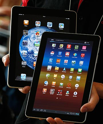 Samsung Galaxy Tab 10.1 and Apple iPad
