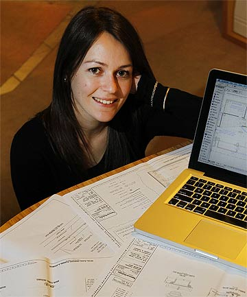 SHEER DETERMINATION: Amanda Cameron has not let Usher Syndrome stop her from studying architecture.