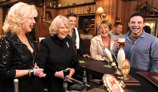 Coronation St cast and Camilla