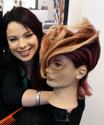 Stylist cuts her losses to settle on silver medal