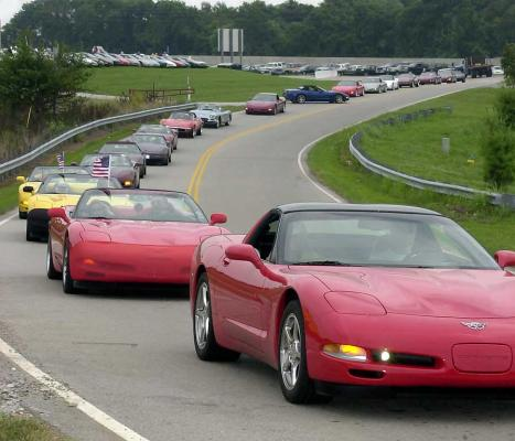 Every five years, Corvettes from across the US join together to make the pilgrimage to the National Corvette Museum in what is called the largest moving automotive event in the country.
