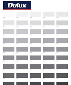 Dulux grey paint swatch