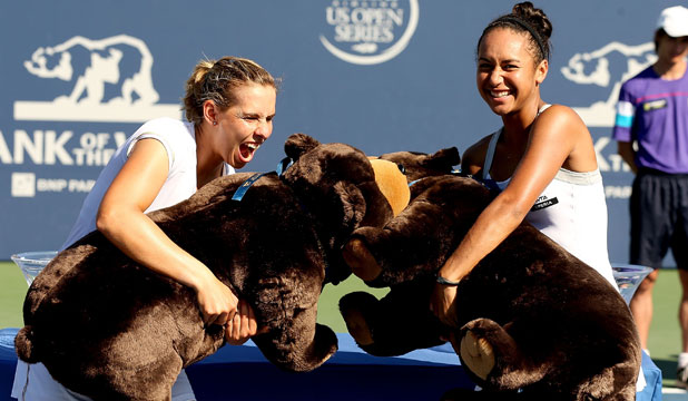 Marina Erakovic and Heather Watson