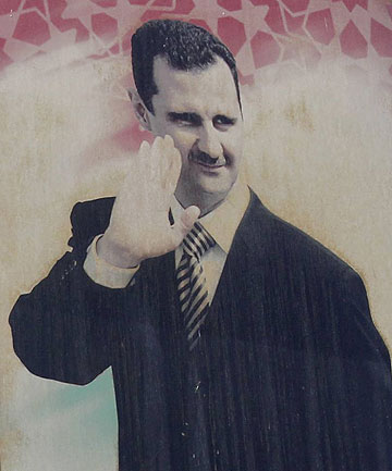 ISOLATED BUT STILL IN POWER: Syrian president Bashar al-Assad.