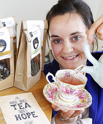 TEA TIME: Katie Hammond, director of KTea, hand blends her range of fair trade organic teas in  Upper Hutt.