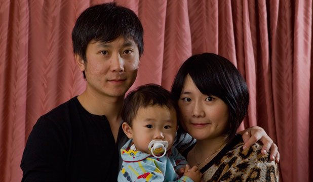 Echo Liu with her husband, Frank Yeng, and 1-year-old son Jayden.