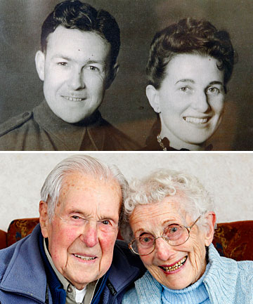 Jim and Betty Morrison, of Johnsonville, are celebrating their 70th wedding anniversary