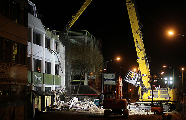 Orion demolition begins