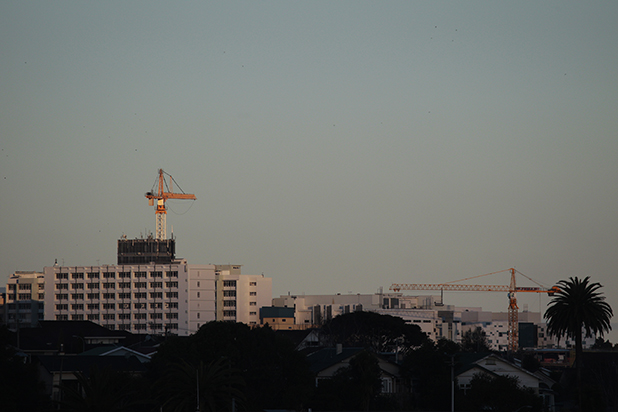 CONSTRUCTION SITE: Cranes have become a familiar sight at Waikato Hospital over the last few years.