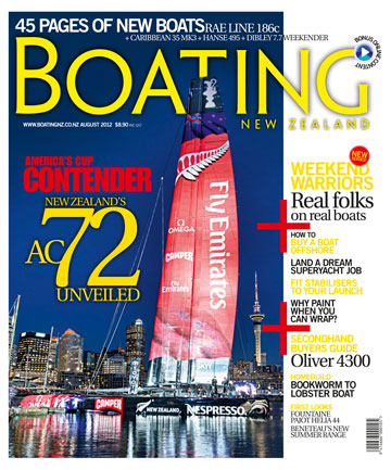 Boating August 2012 cover