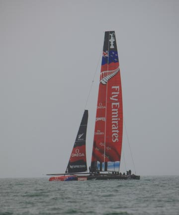 Team NZ catamaran