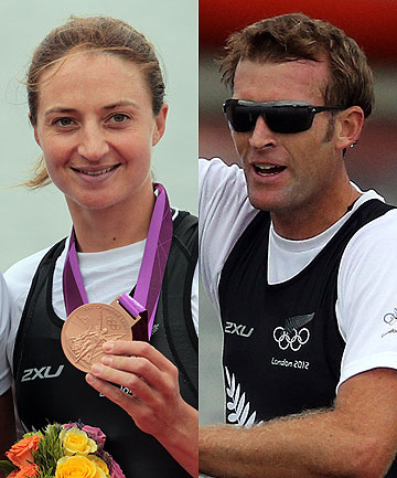 Juliette Haigh and Mahe Drysdale.