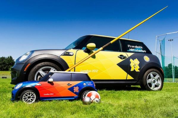 Mini has developed three remote controlled electric cars that will be used to return the implements f