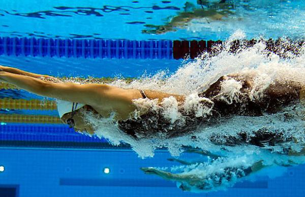 Lynette Lim of Singapore in the 800m freestyle.
