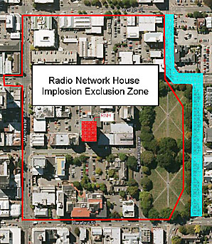 Implosion exclusion zone
