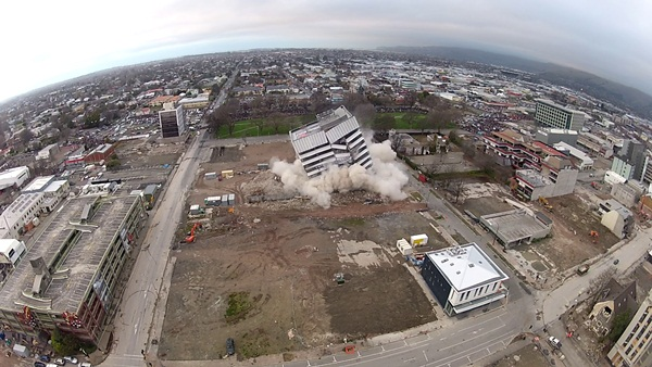 Radio Network House Implosion