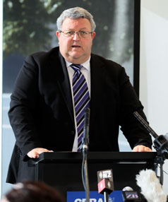 Earthquake Minister Gerry Brownlee 
