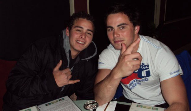 Victor Guildford, 21, left, and his older brother, Zac Guildford.