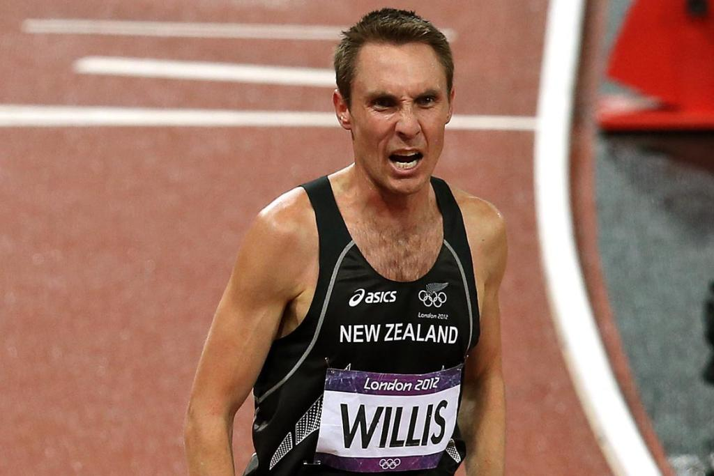 A disappointed New Zealand's Nick Willis at the end of the men's 1500m final at the London Olympi