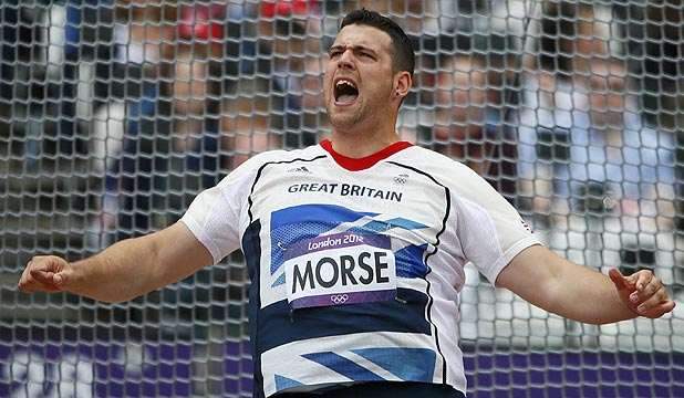 British discus thrower Brett Morse