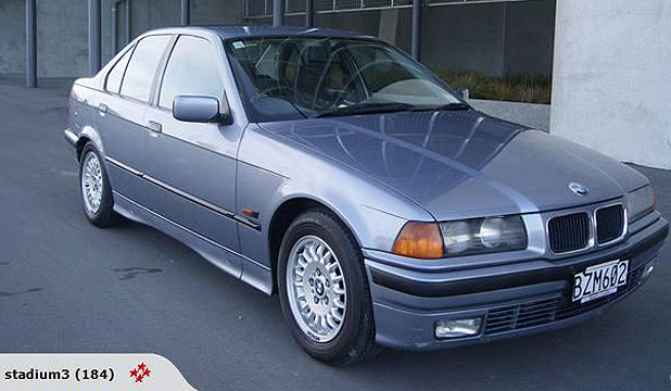 SNAPPED UP: The 1994 blue BMW 320i was erroneously l