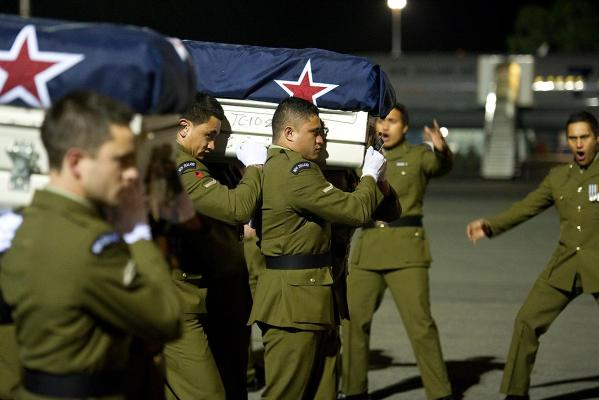 The bodies of soldiers Pralli Durrer and Rory Malone arrive back on home soil.
