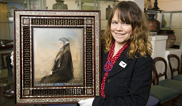 KIWI BUYER: Dunbar Sloane's head of art, Alice Masters, with if Portrait of Hoda Shaarawinf by Feodor Zakharov.