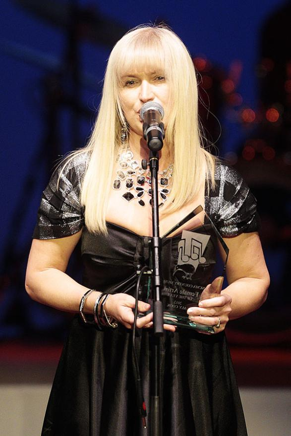 Aly Cook won the Country Music Female Artist of the Year the 7th National Country Music Awards at Founders Theatre.