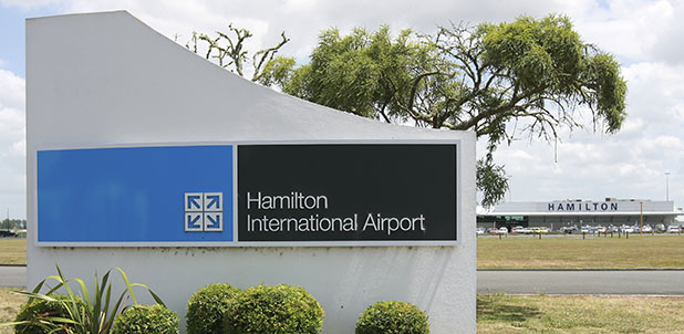 NEW SIGN NEEDED: Hamilton Airport is set to lose its international status as the trans-Tasman air service ends on October 27.