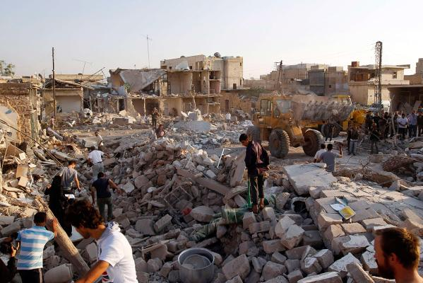 Azaz, Syria, Bombing