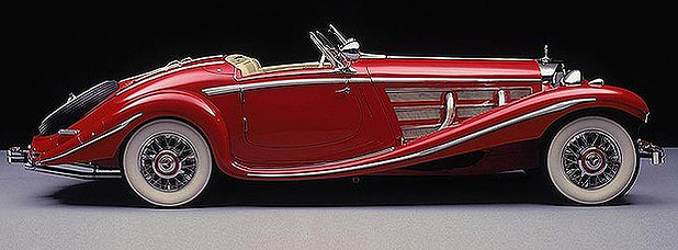 A 1930s Mercedes Roadster, one of only 30 ever built.
