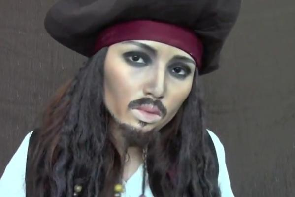 Promise Tamang Phan does Jack Sparrow.