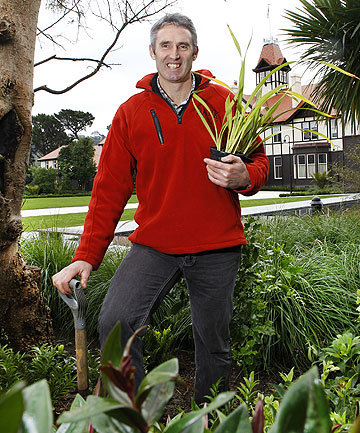 HANDS ON: Kerei Thompson, whose company  Bark looks after the grounds of Government House, among other prestigious properties.