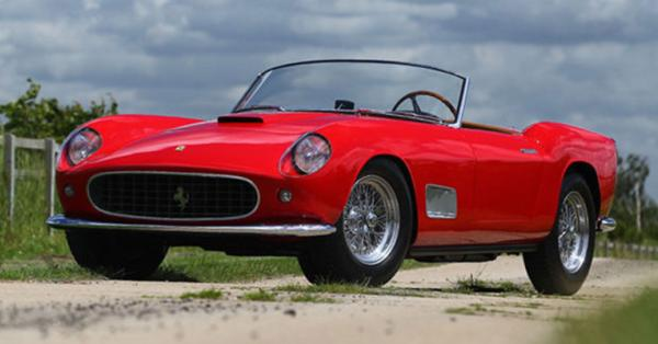 The rare 1957 Ferrari 250 GT LWB California Spider Prototype which sold at auction in the US for US$6.6 million.