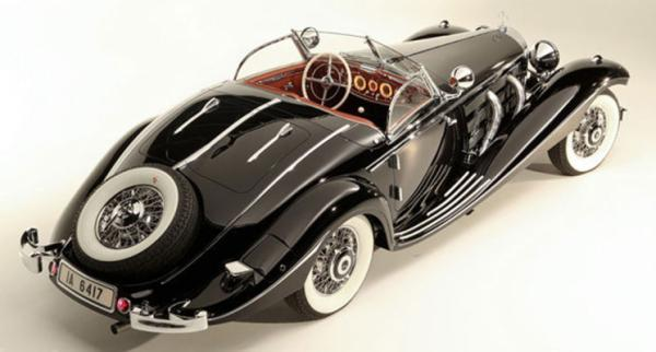 A 1936 Mercedes-Benz 540 K Special Roadster which sold at auction in the US for US$11.7 million.